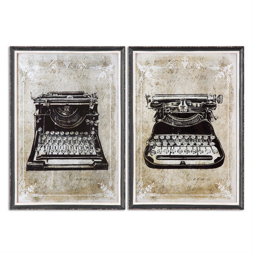 Classic Typewriters Set of 2