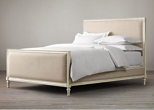 Bordeaux Upholstered King Bed (A/White)