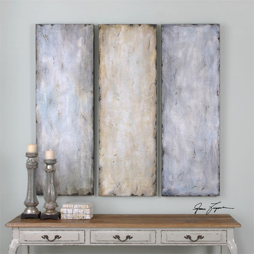 Textured Trio Set of 3 a Paintings by Uttermost