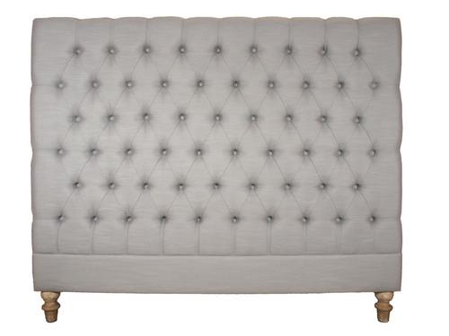 Marquis Upholstered Queen Headboard (Dove Grey)