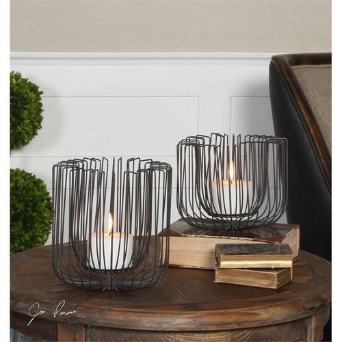 Flare Candleholders - Set of 2 by Uttermost
