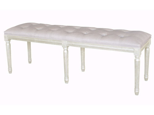 Bordeaux Tufted Ottoman 137cm (A/White)