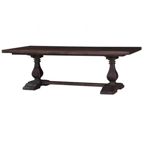 Provincial Trestle Dining Table (Wide) 240 x 120cm - Cocoa