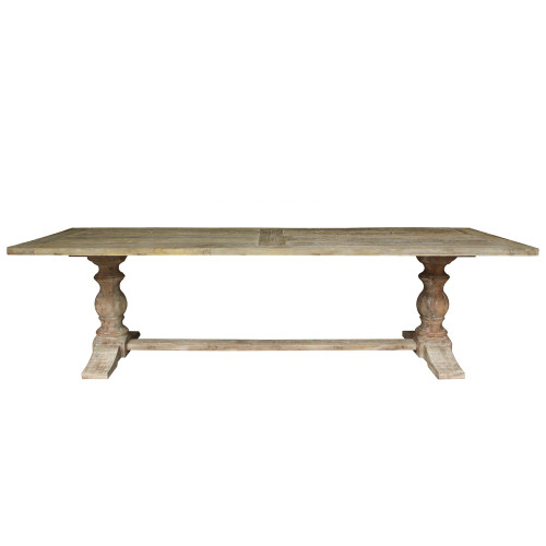 Hudson Trestle Dining Table 280cm - Weathered Elm