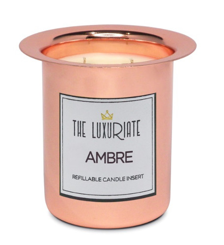 The Luxuriate Ambre Candle Refill Insert