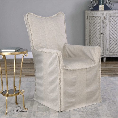 Lenore Armchair Flax by Uttermost