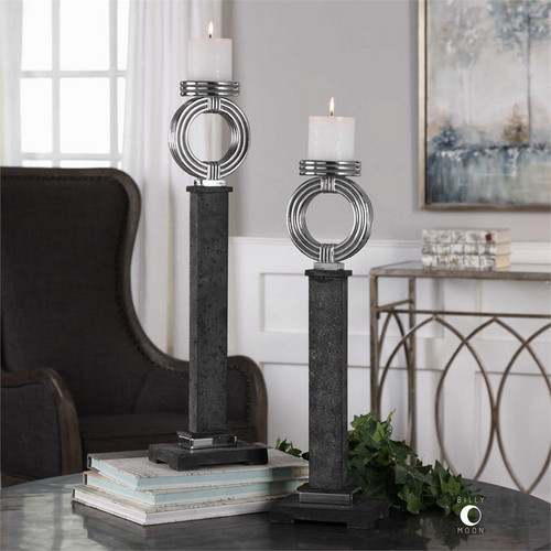 Docia Candleholders Set/2 by Uttermost