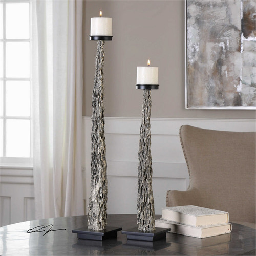 Tegal Candleholders Set/2 by Uttermost
