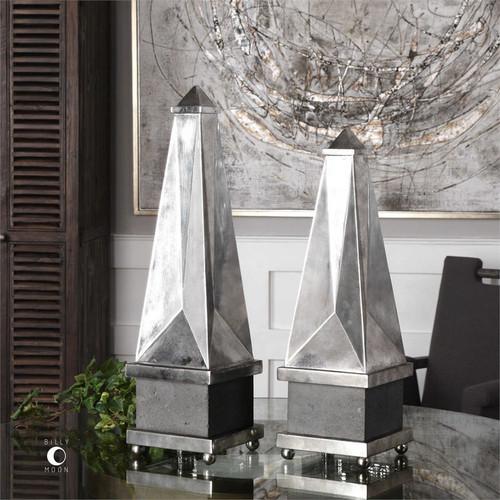 Armanno Obelisk Set/2 by Uttermost