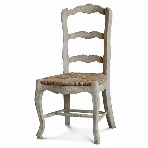 Provincial Dining Chair w/ Carving - Size: 100H x 53W x 53D (cm)