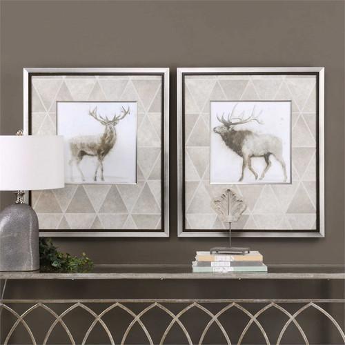 Stag and Elk Set/2 - Framed Artwork