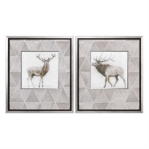 Stag and Elk Set/2 - Framed Artwork