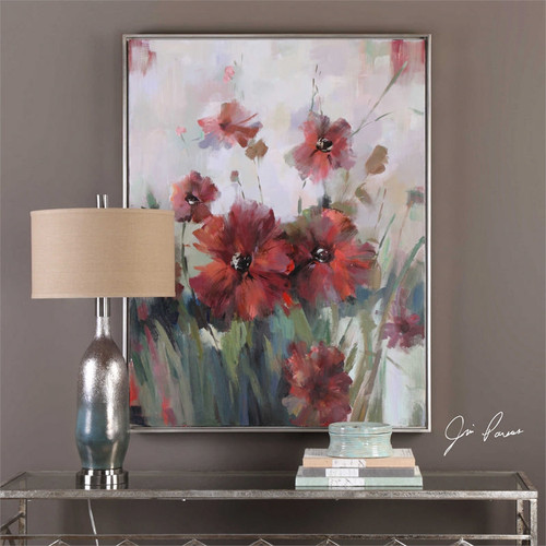 Blooming Red - Hand Painted Artwork a Paintings by Uttermost