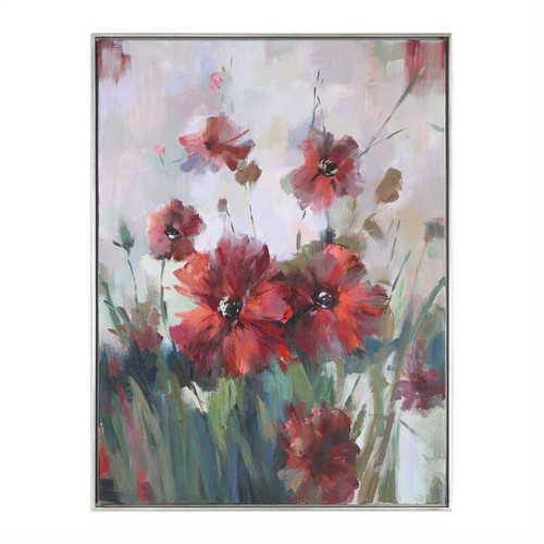Blooming Red - Hand Painted Artwork