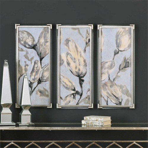 Flower Bud Triptych Set/3 - Framed Artwork a Prints Framed by Uttermost