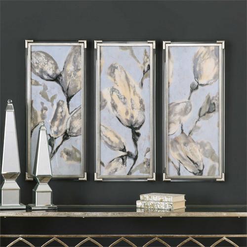 Flower Bud Triptych Set/3 - Framed Artwork a Prints Framed by Uttermost