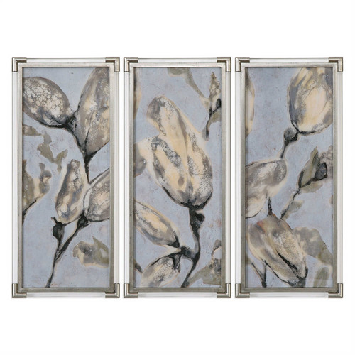 Flower Bud Triptych Set/3 - Framed Artwork