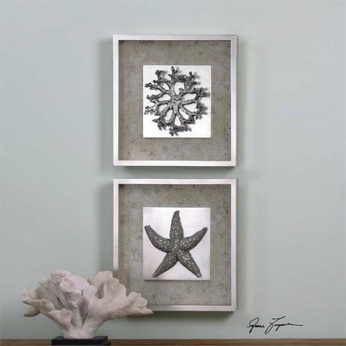 Starfish & Coral Set/2 - Framed Artwork a Prints Framed by Uttermost