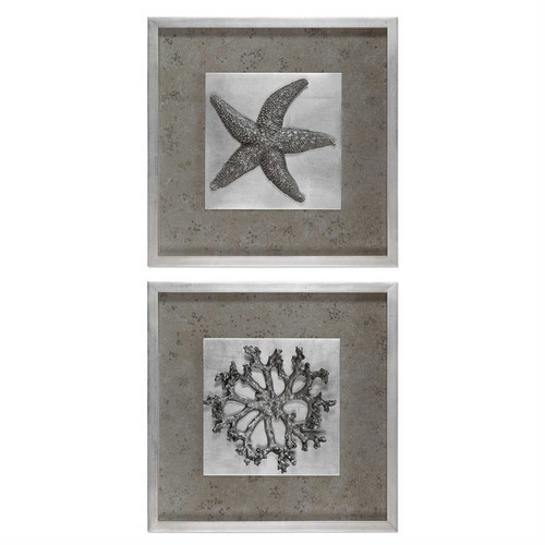 Starfish & Coral Set/2 - Framed Artwork