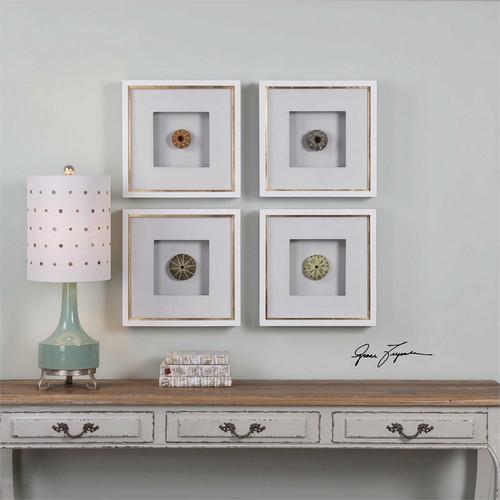 Sea Urchins Set/4 - Framed Artwork a Prints Framed by Uttermost