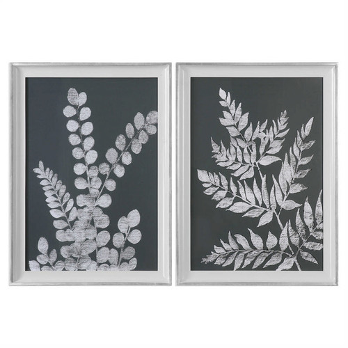White Ferns Set/2 - Framed Artwork