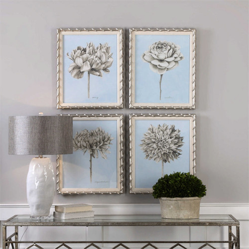 Graphite Botanical Study Set/4 - Framed Artwork a Prints Framed by Uttermost