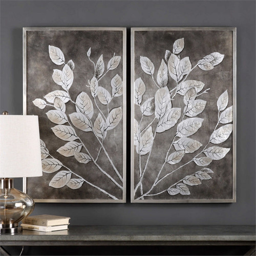 Money Tree Set/2 - Hand Painted Artwork a Paintings by Uttermost