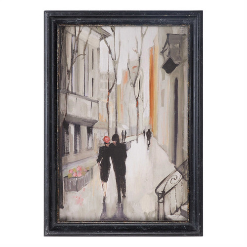 Village Promenade - Framed Artwork