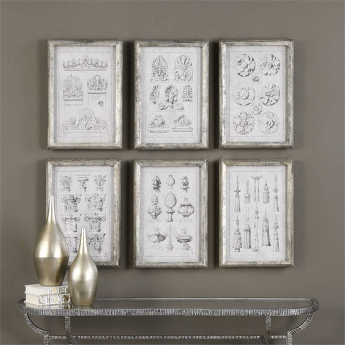 Architectural Accents Set/6 - Framed Artwork a Prints Framed by Uttermost