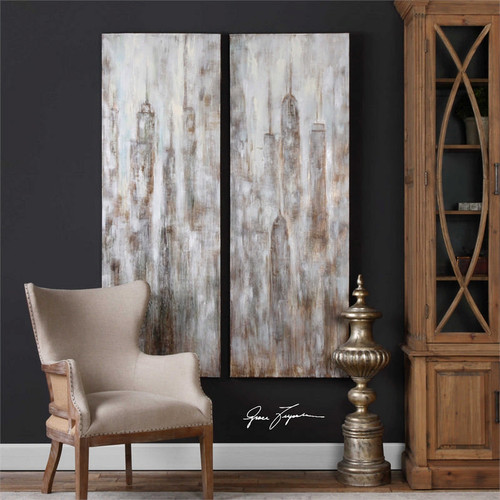 Cityscapes Set/2 - Hand Painted Artwork a Paintings by Uttermost
