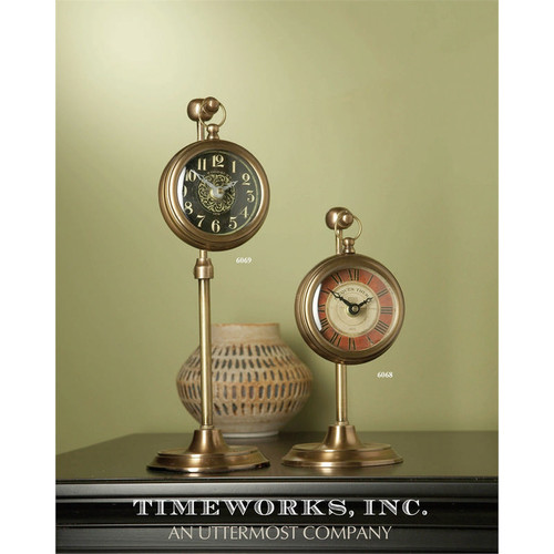 Pocket Watch Desk Clock Brass Thuret by Uttermost