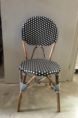 Bistro Chair Black & White