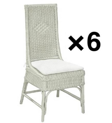 Conservatory Dining Chair - White - Set of 6