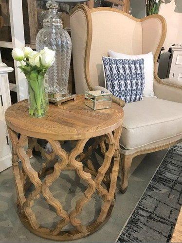 Lattice Side Table - Reclaimed Wood