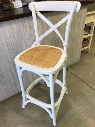 Bentwood Counter Stool - Matt White
