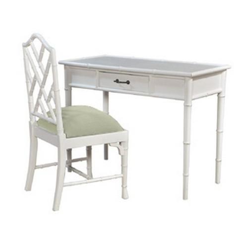 Martinique Faux Bamboo Desk w/Chair - Size: 79H x 104W x 51D (cm)