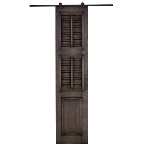 Cottage Single Shutter Sliding Door - Size: 237H x 106W x 7D (cm)