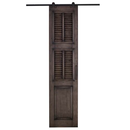 Cottage Single Shutter Sliding Door - Size: 237H x 106W x 7D (cm)