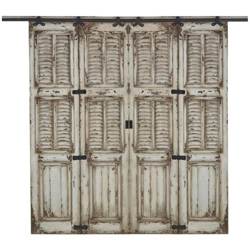 Cottage Double Twin Shutter Sliding Door - Any Colour