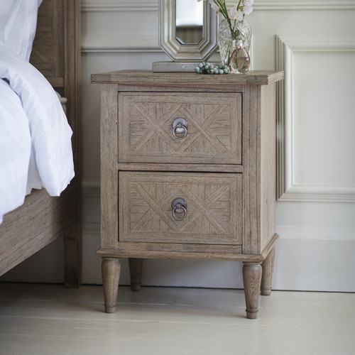 Newhaven Bedside Table 2 Drawer