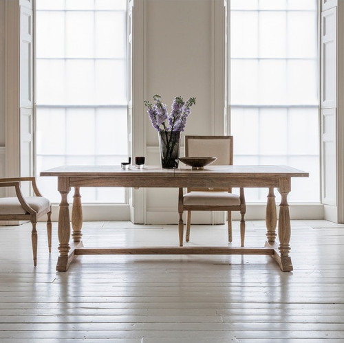 Newhaven Parquetry Extension Dining Table - Closed, 200cm