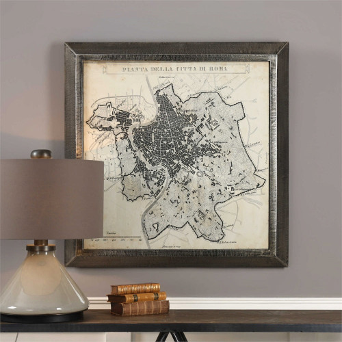 City Plan of Rome Print by Uttermost