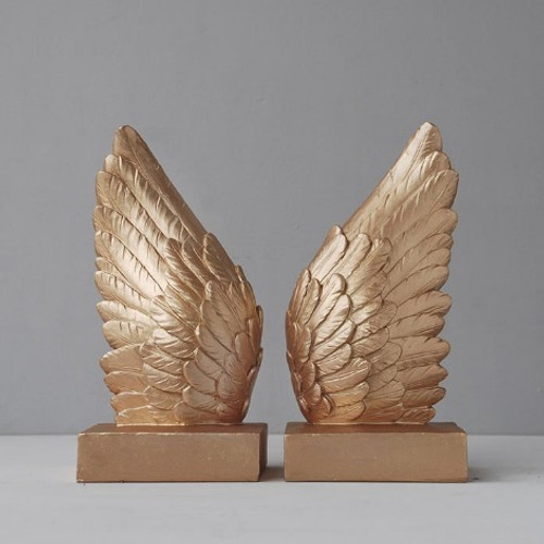 Wing Bookends - Gold