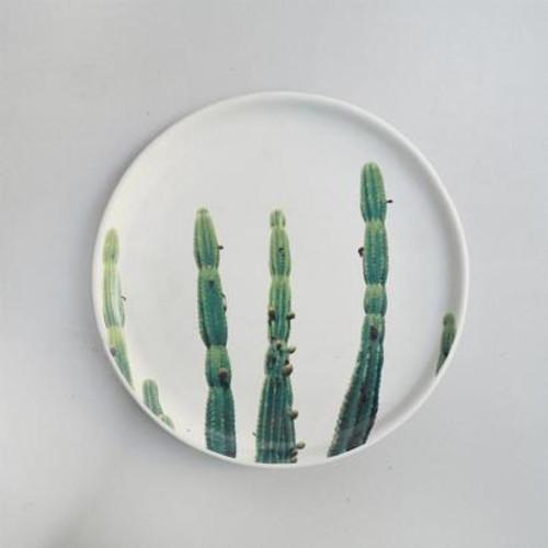 Printed Cactus Ceramic Plate 20cm