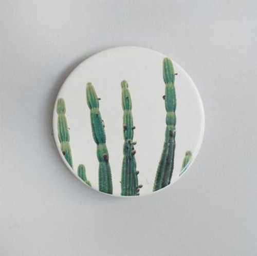 Cactus Ceramic Coaster Set