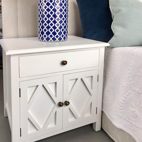 West Hampton Small Cabinet - White