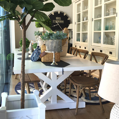 Hamptons X Base Dining Table 3m