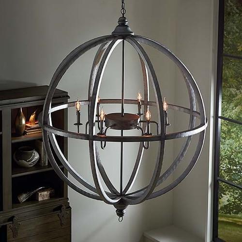 Infinity 120cm Globe Tin Chandelier