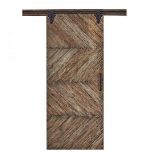 Single Sliding Door Parquet Texture - Any Colour