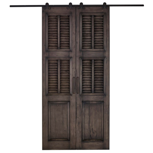 Cottage Double Split Shutter Sliding Door - Any Colour